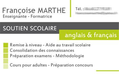 Franoise Marthe Ralisation Des Cartes De Visites